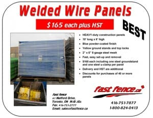 Buy blue welded wire fence panels