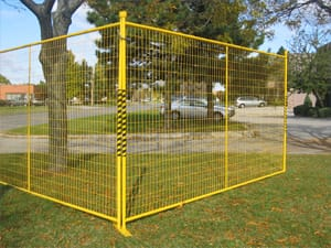 Temporary high visibility fence panel rentals for emergencies and disaster scenes
