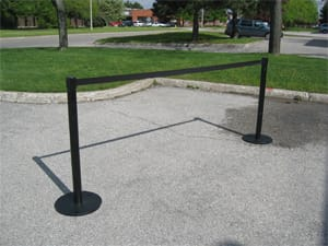 Crowd control stanchion rentals