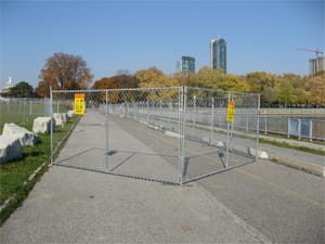 Temporary chain link fence panel rentals for special events