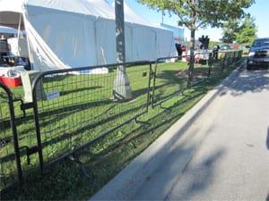 Black barricades
