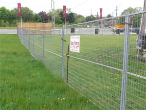 Temporary welded wire fence panel rentals for special events