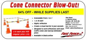 Traffic safety cone connector sale