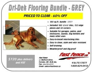 Dri-Dek kennel flooring clearance sale