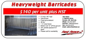 Barricades for sale