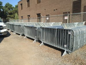 Barricade rentals for construction and special events