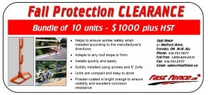 Fall protection unit clearance