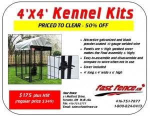 4x4 kennel kit clearance