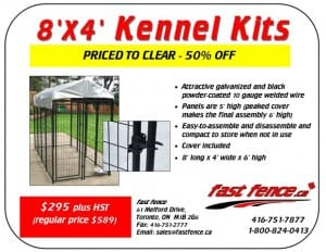 8x4 kennel kit clearance
