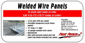 Temporary welded wire panels for sale
