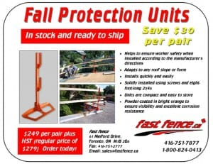Rapidguard fall protection unit special