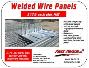 Welded wire temporary construction fence panel sale