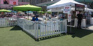 White picket event fencing