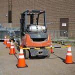 Traffic safety cones and connectors