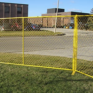 Custom high visibility fence panels