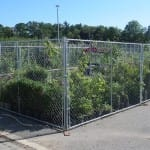 Chain link panels garden centre
