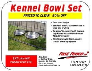 Kennel Bowl Set