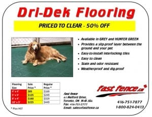 Dri-Dek kennel flooring kits