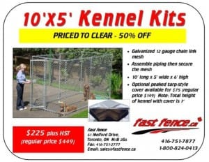 10x5 kennel kits for sale