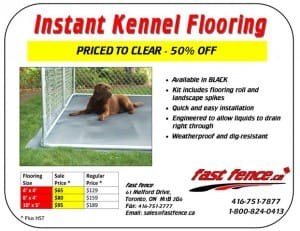 Instant kennel flooring