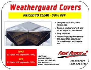 Weatherguard kennel covers