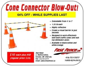 Traffic cone connector clearance sale