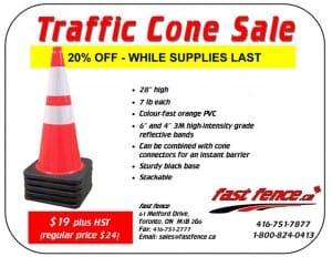 Traffic cones 20% off