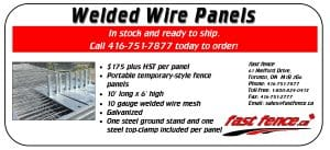 New welded wire temporary fence panels for sale