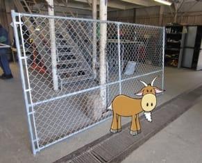 Custom fence for goats