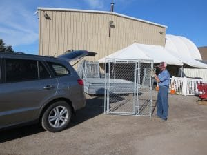 Bring a suitable vehicle to pick up temporary fence panels