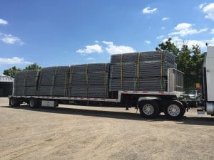 New temporary construction and event fence shipment