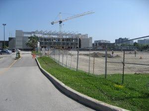 Centennial College construction fence