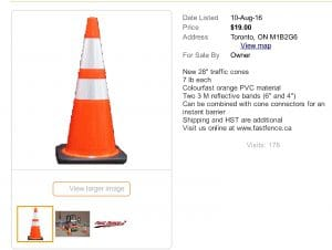 28_ REFLECTIVE TRAFFIC CONES _ other _ City of Toronto _ Kijiji