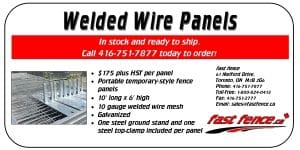 Welded wire panel sale