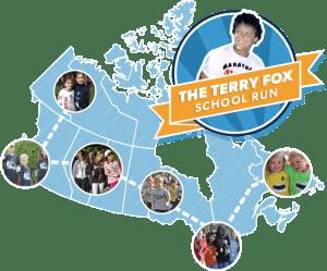 Terry Fox school run map