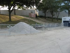 Temporary barricades for construction