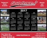 Fast Fence calendar mousepads