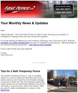 Fast Fence e-news February 2017