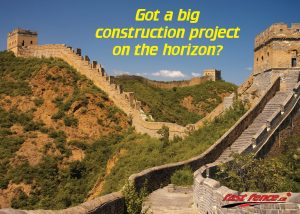 Temporary fence for construction great wall