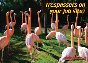 Temporary fence for preventing trespassers on job site