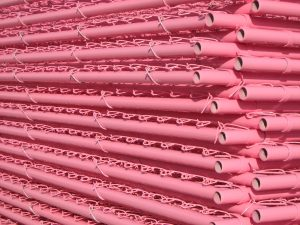 Pink chain link panels