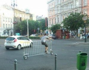 barricade bike