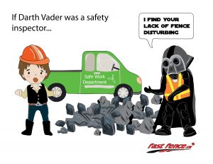 Darth Vader safety inspector