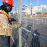 Construction fence inspection