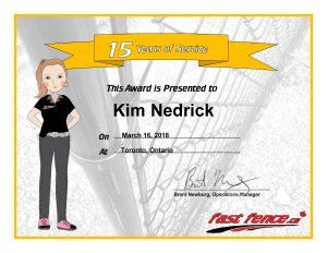Fast Fence congratulations Kim