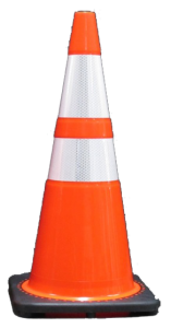 Traffic safety traffic cones reflective bands