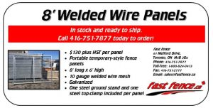 Temporary welded wire fence panels for sale