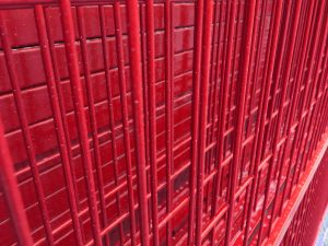 Temporary fence panels red welded wire