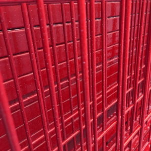 Temporary fence red welded wire panels