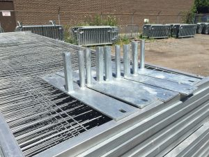 Temporary fence panels for sale steel ground stands